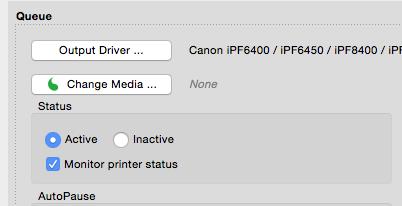 how to change printer status