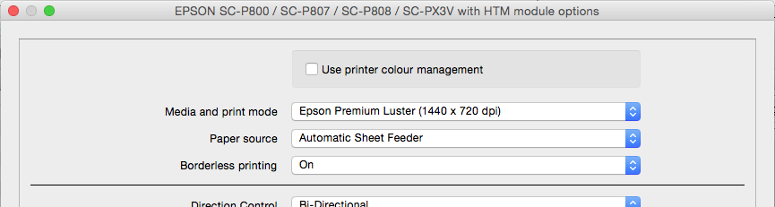 Borderless Printing on the Epson SC-P600 / SC-P800 | Serendipity
